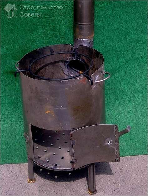 Сварить печку в баню из трубы