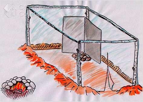 Каркас для бани палатки своими руками 12